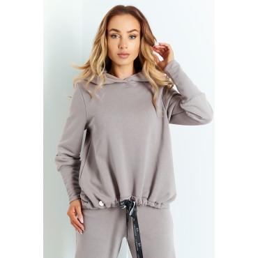 Kokvilnas džemperis ar kapuci Lemoniade L401A taupe