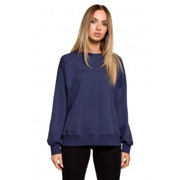 Oversize džemperis Moe M613 blue
