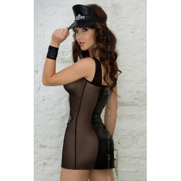 Erotisks policistes kostīms Softline Collection Polly - black 1830