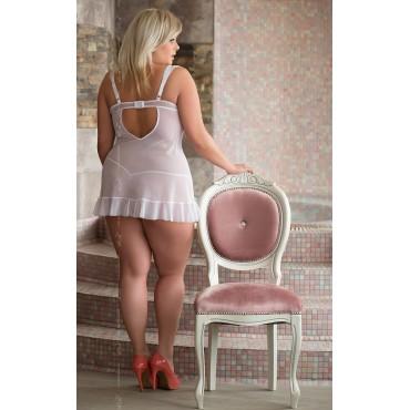 Naktskleitiņa Softline Collection Bianca - Plus Size - white 1818