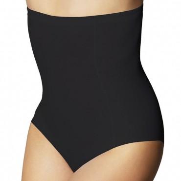 Augsta auguma bikini apakšbikses melnas