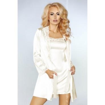 Naktsveļas komplekts LivCo Corsetti Fashion Jacqueline Ecru LC 90249