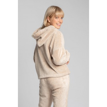 Pūkains džemperis LaLupa LA003 cappuccino