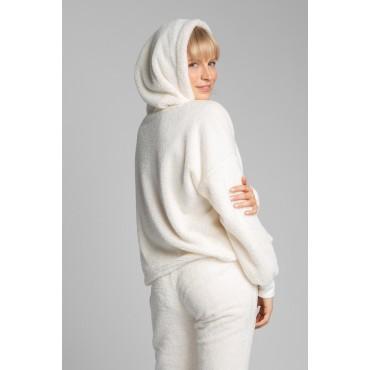 Pūkains džemperis LaLupa LA003 ecru