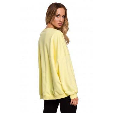 Oversize kokvilnas džemperis Moe M587 lemon