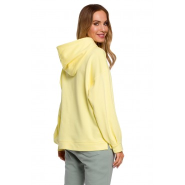 Kokvilnas džemperis Moe M588 lemon