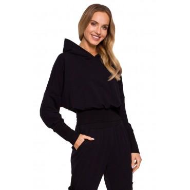 Kokvilnas džemperis Moe M592 black