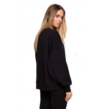 Oversize džemperis Moe M613 black