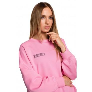 Oversize džemperis Moe M613 pink
