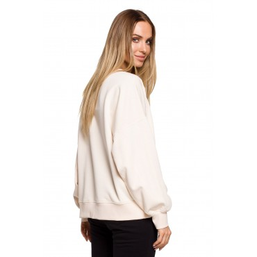 Oversize džemperis Moe M613 vanilla