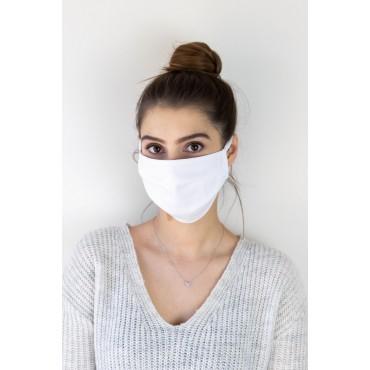 Aizsargājoša daudzkārt lietojama kokvilnas maska, piecu iepakojumu balta