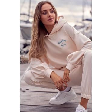 Kokvilnas džemperis Moe M588 vanilla