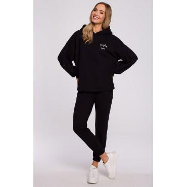 Kokvilnas džemperis Moe M588 black