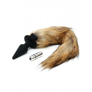 Silicone Butt Plug With Fox Tail